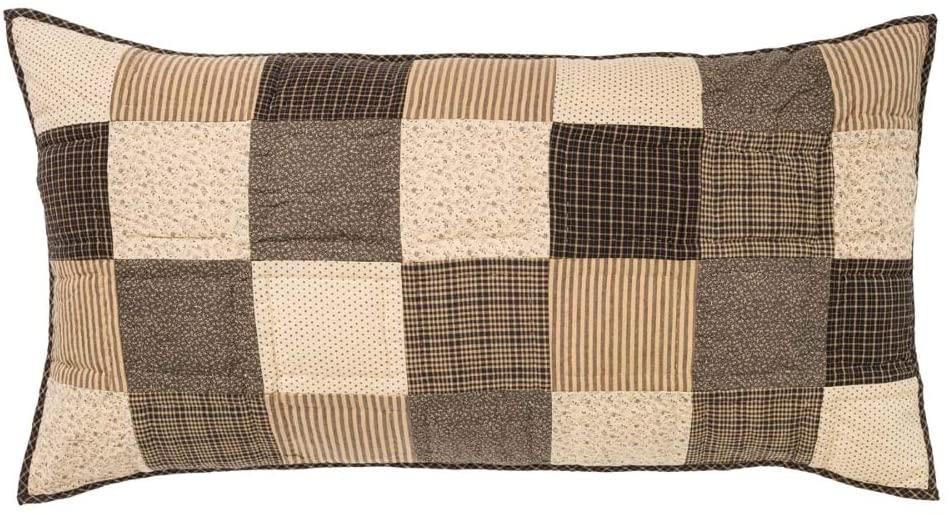 VHC Brands Classic Country Primitive Bedding - Kettle Grove Black Sham, Standard