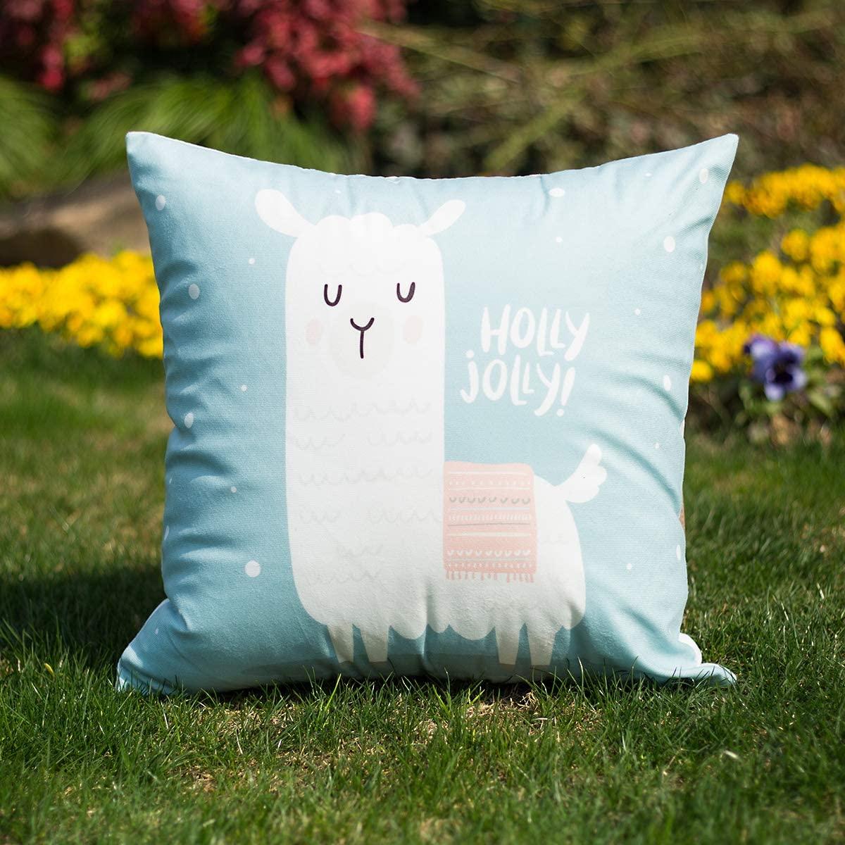Fancyoung Decorative Alpaca Throw Pillow Covers Mascot Set of 2 Cute Llama Pillowcase Home Decor Cushion Cover Pillow Case for Sofa 18
