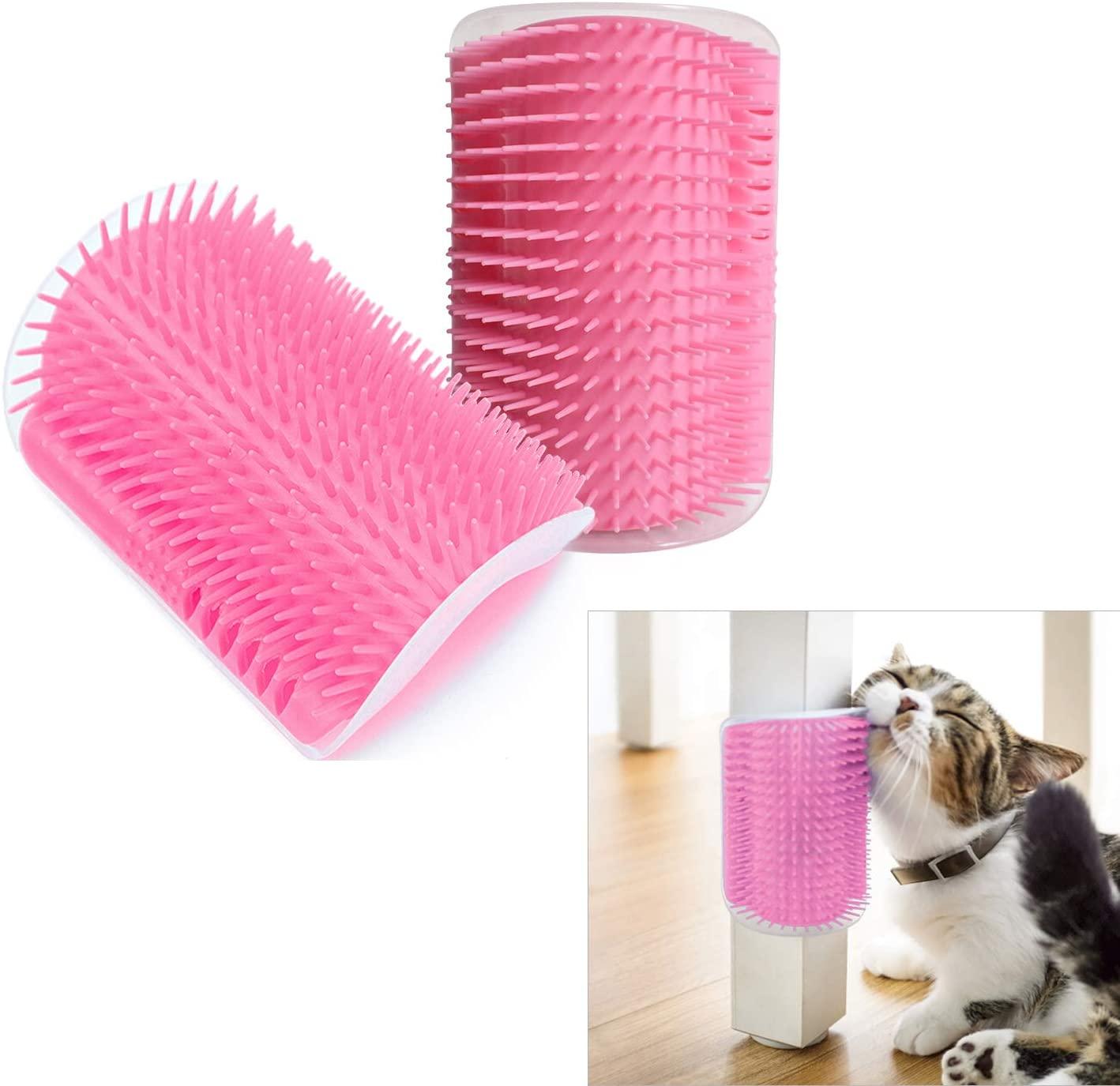Hub's Gadget 2 Pack Cat Self Groomer, Wall Corner Massage Comb Grooming Brush