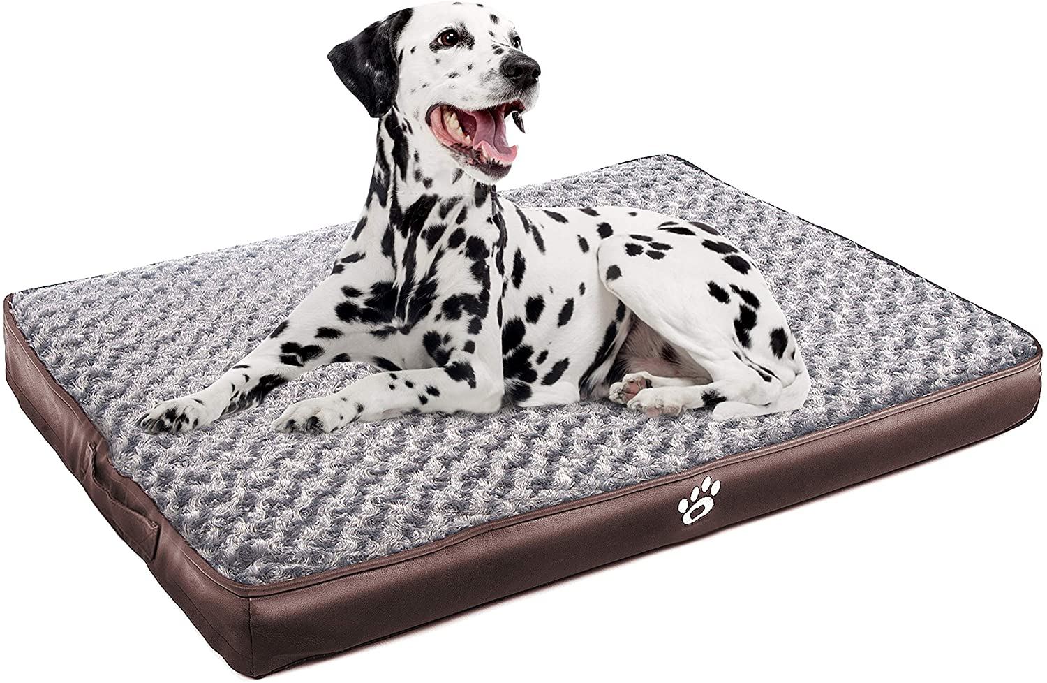 CLOUDZONE Orthopedic Dog Bed | Pet Bed Mattress with Removable Zipper Covers | Egg-Crate Foam Washable Dog Bed for Small/Medium/Large Dogs(XL/XXL/XXL)|Dog Crate Bed with Lining and Non-Slip Bottom