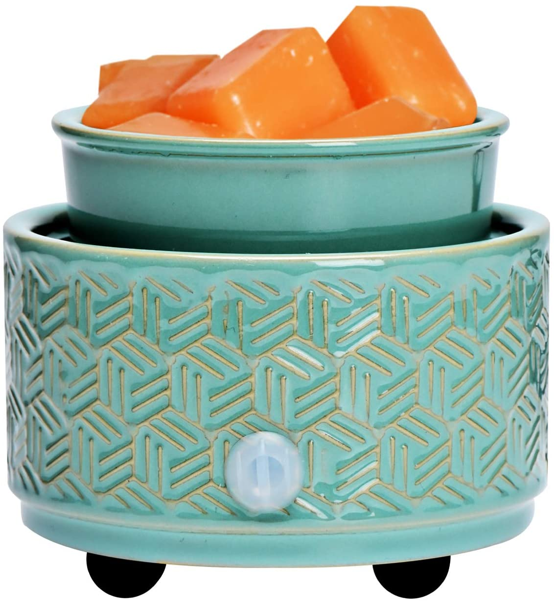 ASAWASA Ceramic Electric Wax Melt Warmer, Candle Waxing Warmer, Use Wax Melts Cubes Essential Oils and Fragrance Oils, Gifts for Aromatherapy Spa Home Office 4.02