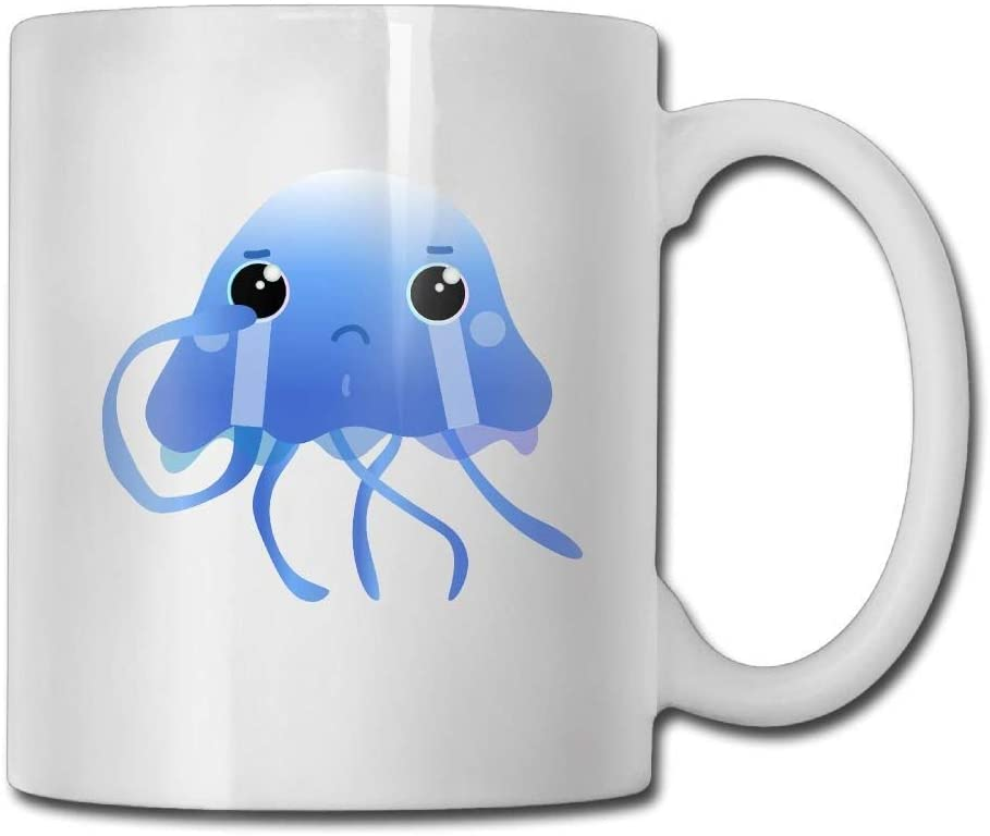 Jellyfish Crying Coffee Mugs 11 Oz Birthday Gift Ceramic Tea Cup coffee cup 11oZ🏆, the perfect gift for family and friends 🎁
