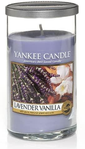 Yankee Candle Lavender Vanilla Regular Perfect Pillar Candle, Fresh Scent