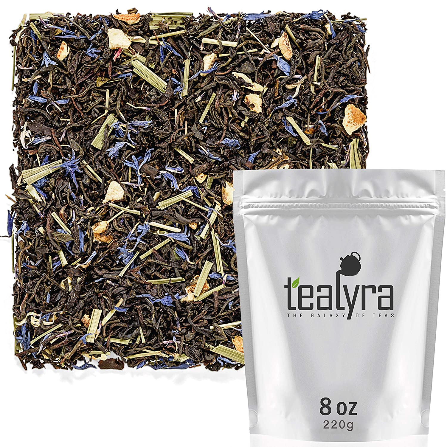 Tealyra - Russian Earl Grey - Orange and Lemongrass - Black Tea - Loose Leaf Tea Blend - Medium Caffeine - 222g (8-ounce)
