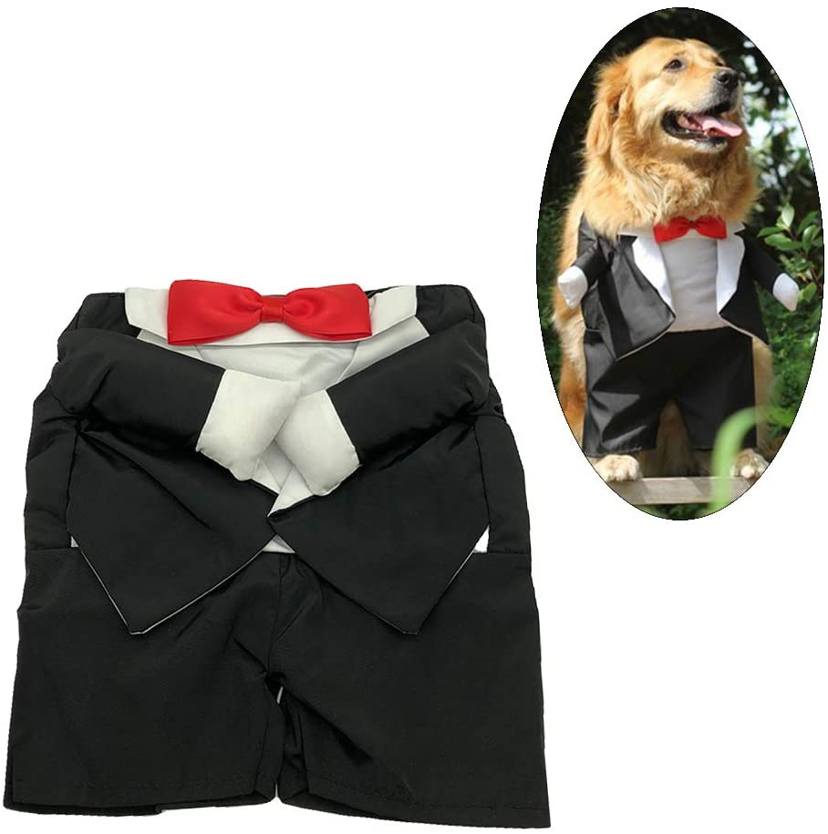 NACOCO Pet Costume Dog Wedding Dress&Tuxedo with Headdress Flower Veil Princess Formal Apparel Small Medium Large Dogs