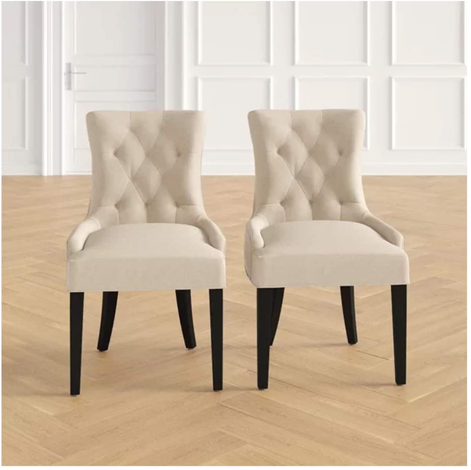 PG Products -Tufted Upholstered Side Chairs Set of 2 (Beige)