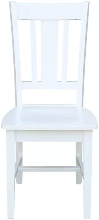 PG Products Malcolm Solid Wood Dining Chair (Set of 2) (White)