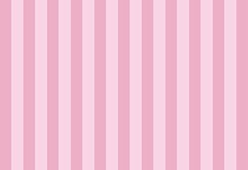 Laeacco Pink Stripes Backdrop 7x5ft Photography Background Pastel Pink Striped Background Birthday Party Decor Banner Princess Girls Baby Shower Decor