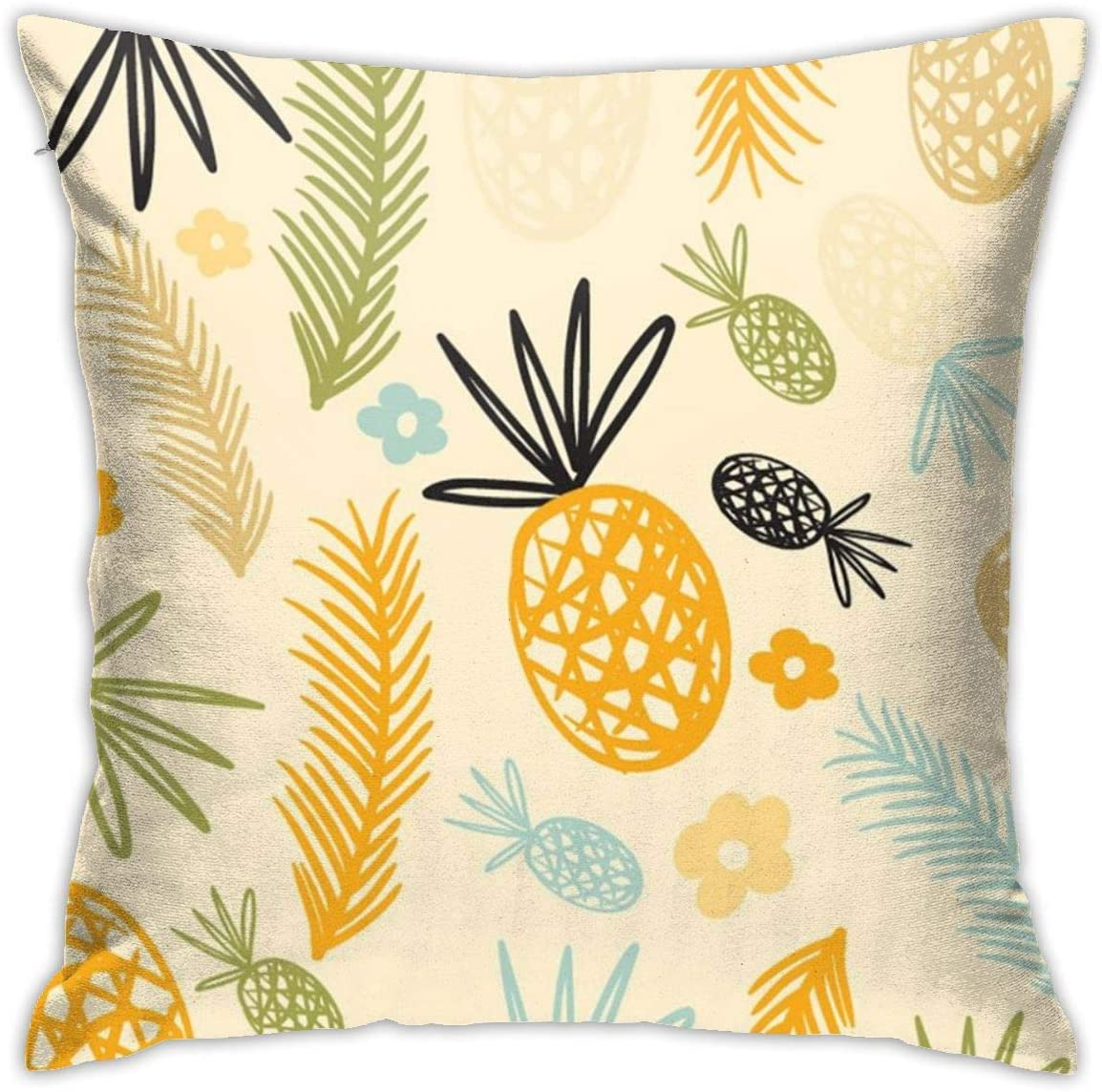 Aotenl Tropical Plants Pineapple Funnny (2) Personalized Customization Pillowcases,Machine Washable,Design,Hotel Quality Non Noisy,Home Essentials,Bedroom,Sofa,18 X 18