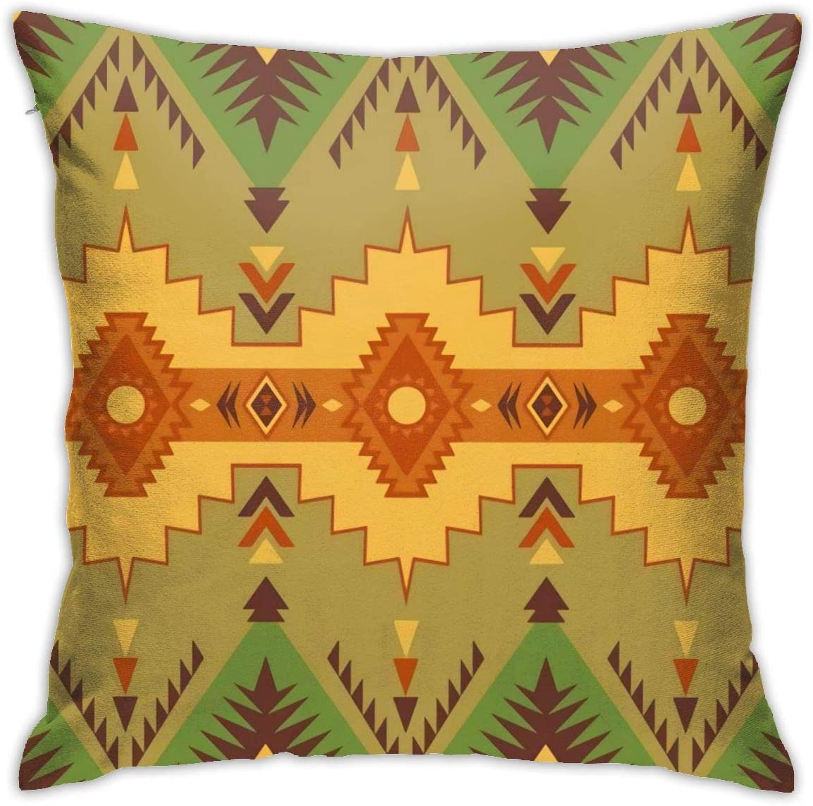 Antvinoler Native Southwest American Indian Aztec Navajo Pillows Case Soft Throw Pillow Double-Sided Digital Printing Couch Pillowcase Square 45cm45cm