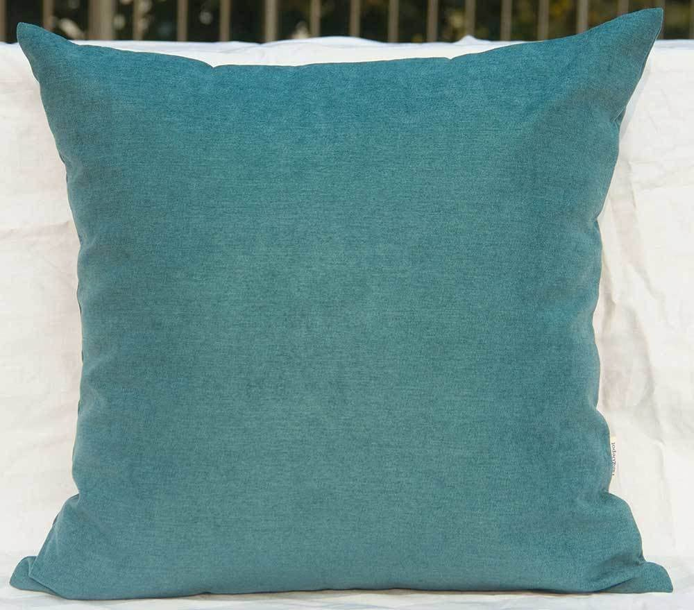 TangDepot Solid Wool-Like Throw Pillow Cover/Euro Sham/Cushion Sham, Super Luxury Soft Pillow Cases - Handmade - Many Colors & Sizes Avaliable - (20