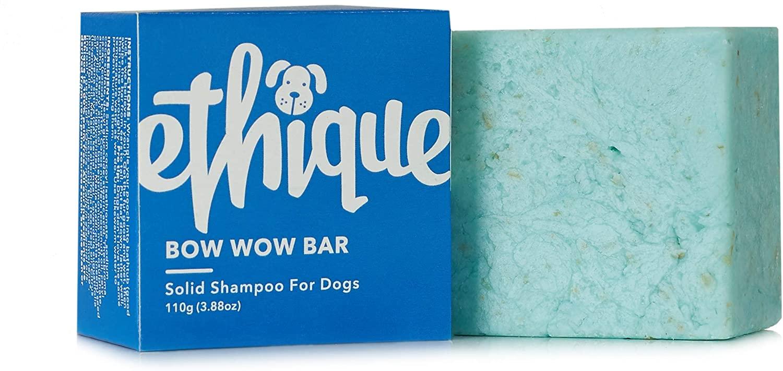 Ethique Eco-Friendly Dog Shampoo for All Dogs - Sustainable Natural Dog Shampoo, Plastic Free, 100% Soap Free Pet Shampoo, Vegan, Plant Based, Palm Oil Free, 100% Compostable 3.88oz