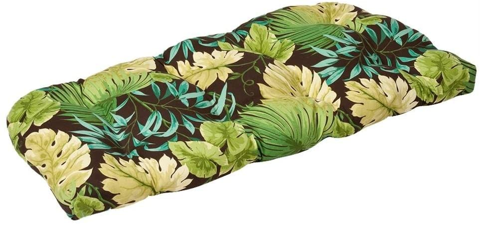 Pillow Perfect Outdoor/Indoor Tropique Peridot Tufted Loveseat Cushion, 44