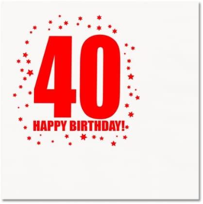 Partypro 40TH Birthday Luncheon Napkin (16/PKG)