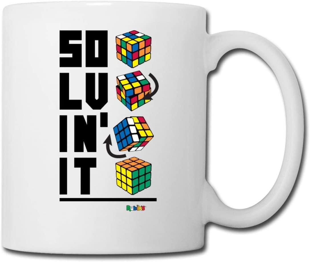 Rubiks Magic Cube Solvin It Mug, white