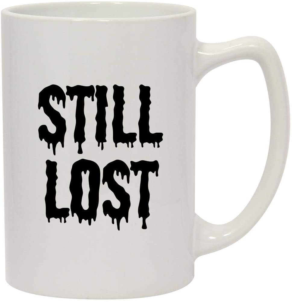 Still Lost - 14oz Ceramic White Statesman Coffee Mug, White