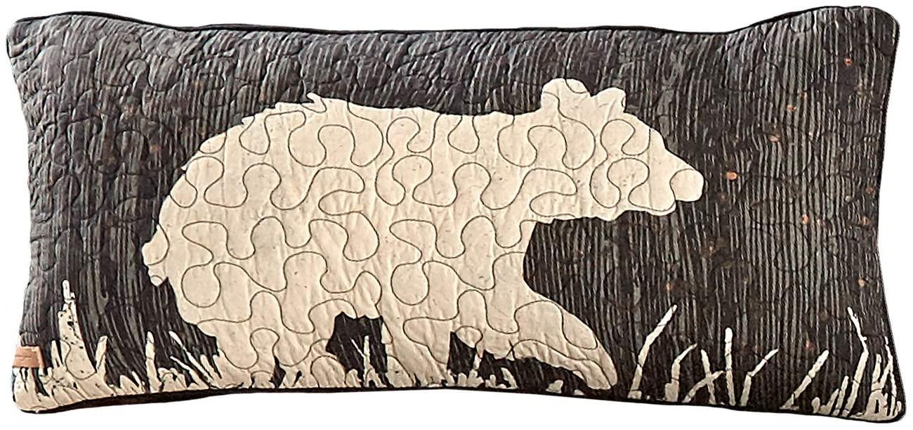 Donna Sharp Throw Pillow - Moonlit Bear Lodge Decorative Throw Pillow with Bear Pattern - Rectangular