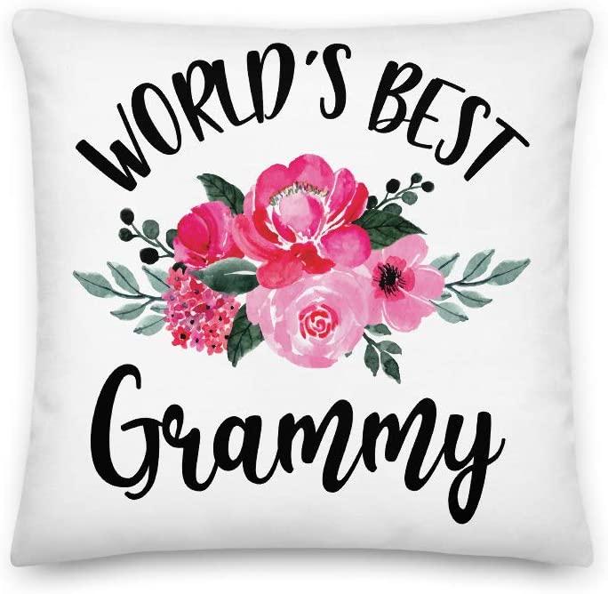 World's Best Grammy All-Over Print Premium Pillow | Cute Grammy Pillow | Grandma Pillow | Nana Gift Pregnancy Announcement | New Grandma | Gift for Her | Happy Mother's Day