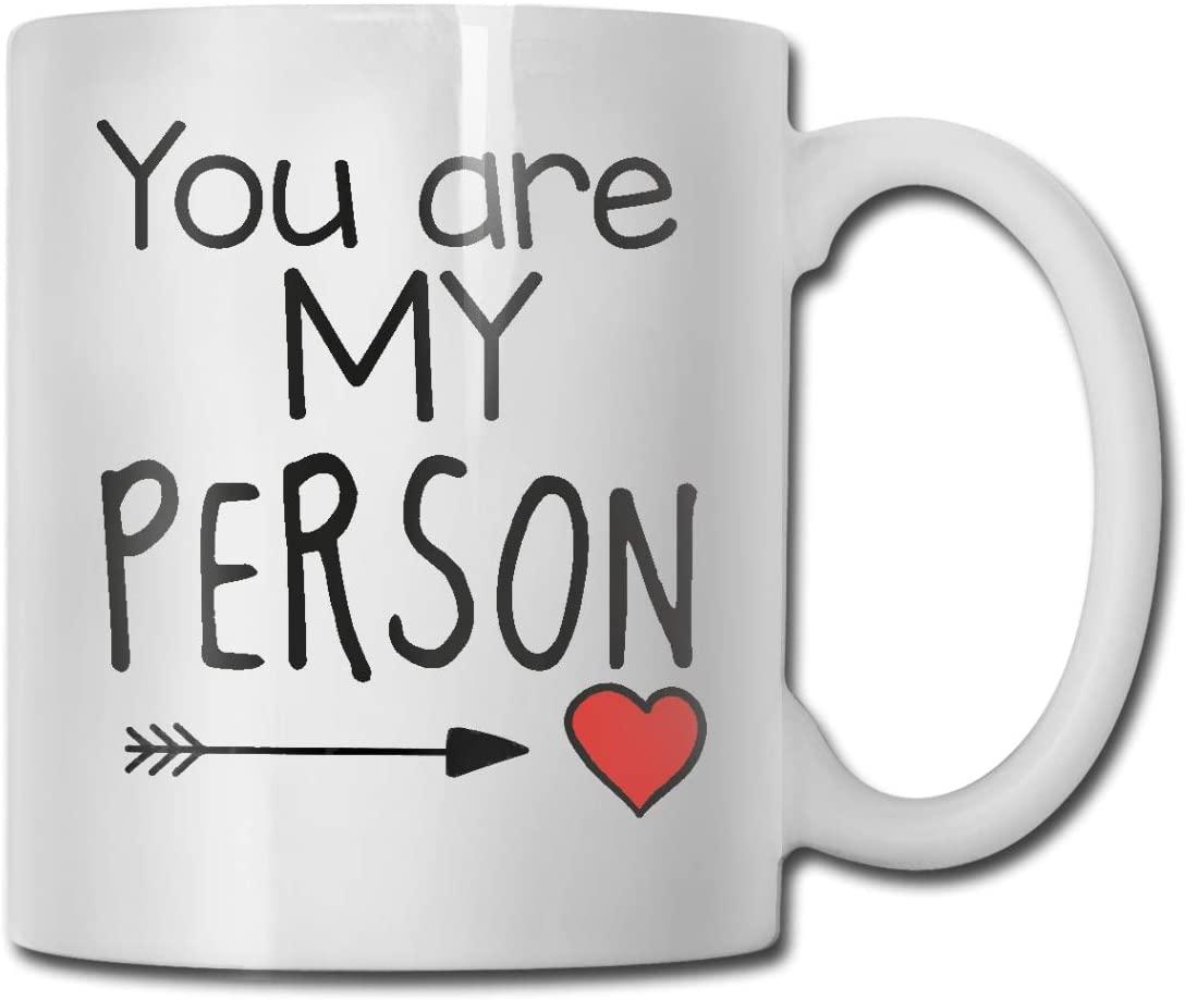 antkondnm You are My Person Heart Coffee Mug - Funny Poop Mug- 11 OZ Ceramic Coffee Cup - Unique Christmas, Birthday, for Friends, Men, Women