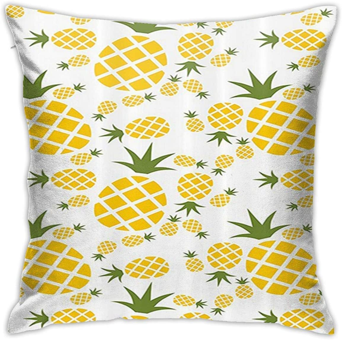 antfeagor Pineapple Pictogram Decorative Pillow Covers Decorative 18x18 in Daily Sofa Throw Pillow Case Cushion Covers Zippered Pillowcase
