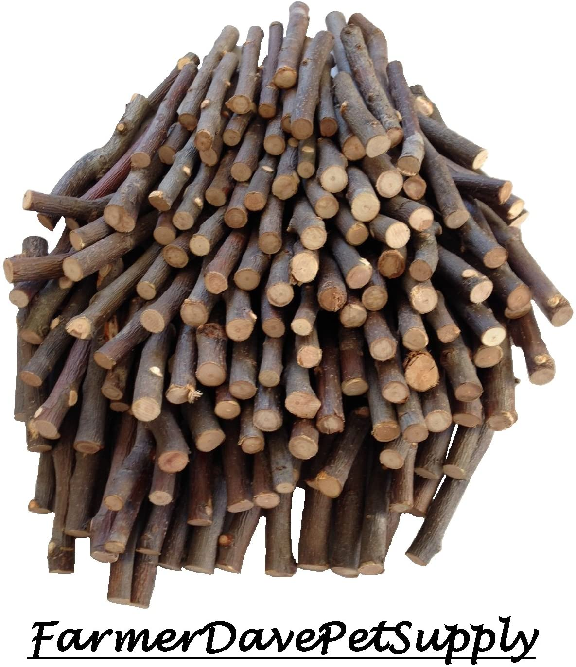 FarmerDavePetSupply 150 Apple Chew Big Stick Bulk Pack for Small Animals