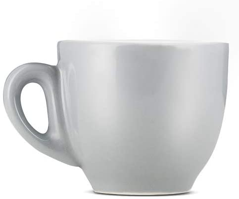 Espresso Parts Porcelain Demitasse Cups W/Saucers (2oz) (GRAY, 6)