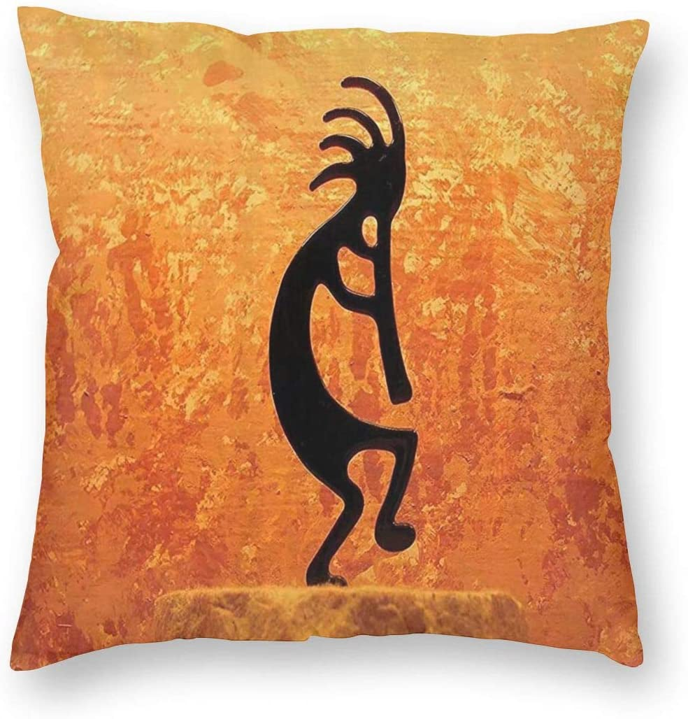 NewBHomeHome Southwestern Indian Kokopelli Decor Square Throw Pillowcase for Sofa Cushion Cover Decorative Square Pillow Case Covers