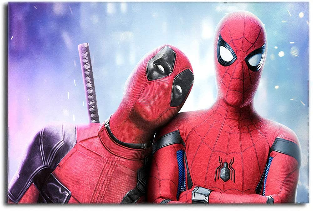 Coobal Wall Art Spiderman far from Home Poster Canvas Wall Art Canvas Art Wall Decor for Bedroom(No Frame) 24x36 Inch