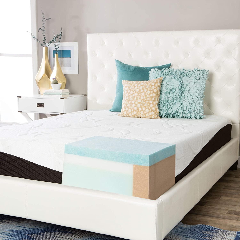 Simmons Beautyrest Comforpedic from Beautyrest Choose Your Comfort 10-inch Gel Memory Foam Mattress Plush Queen