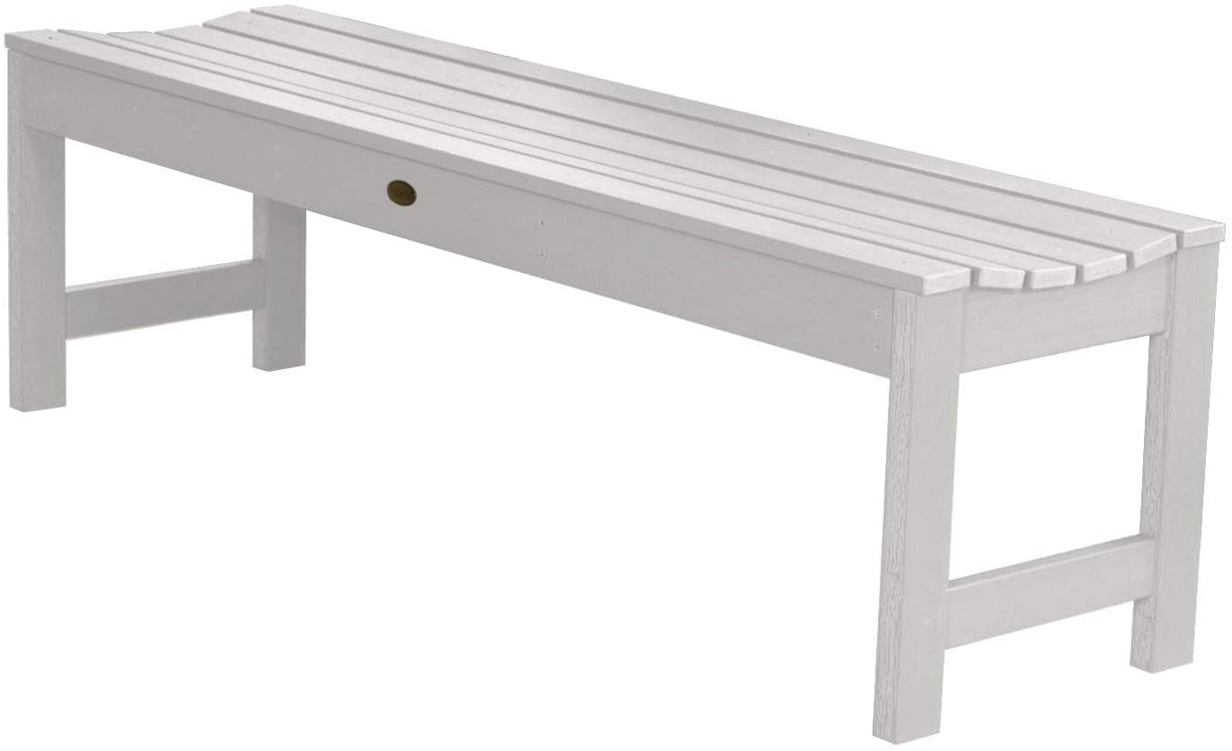 Highwood AD-BENN1-WHE Lehigh Backless Bench, 5 Feet, White