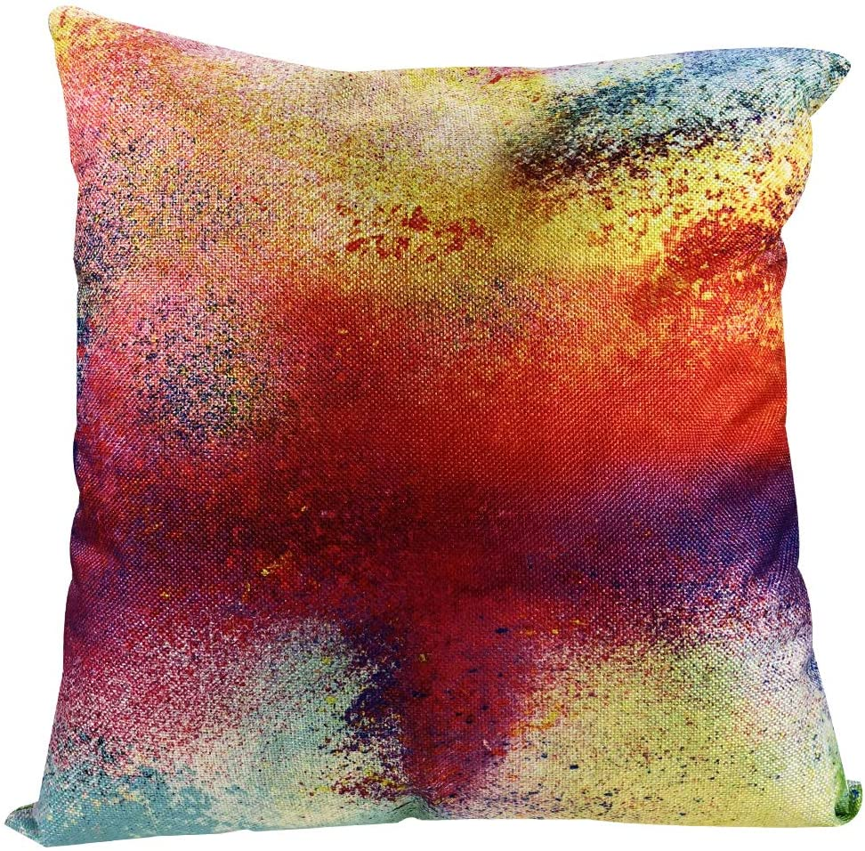 MuaToo Decorative Abstract Design of Multicolored Powder Cloud Throw Pillow Case Cushion Cover 18