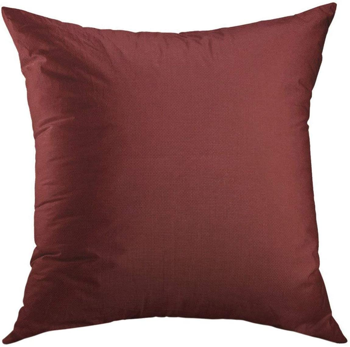 Mugod Decorative Throw Pillow Cover for Couch Sofa,Red Solid Burgandy Purple Color Home Decor Pillow Case 18x18 Inch
