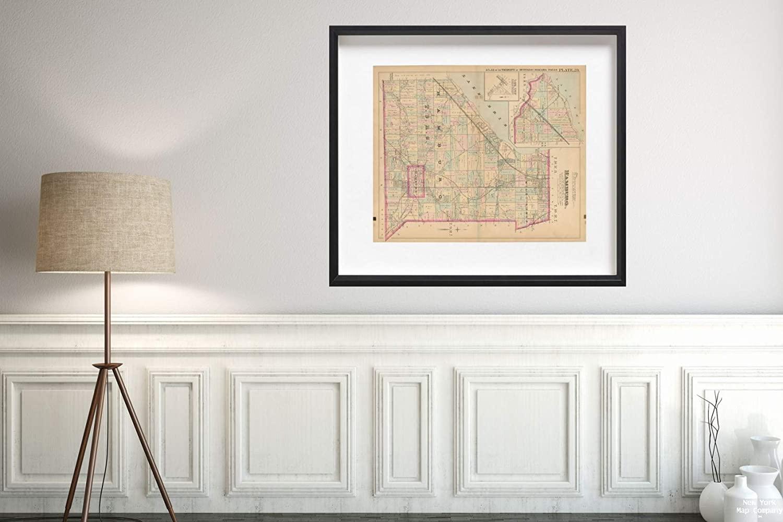 Map|Atlas of Niagara Falls, North Tonawanda and Buffalo, NY, Hamburg 1893 Plate 029 City|Vintage Fine Art Reproduction|Size: 20x24|Ready to Frame