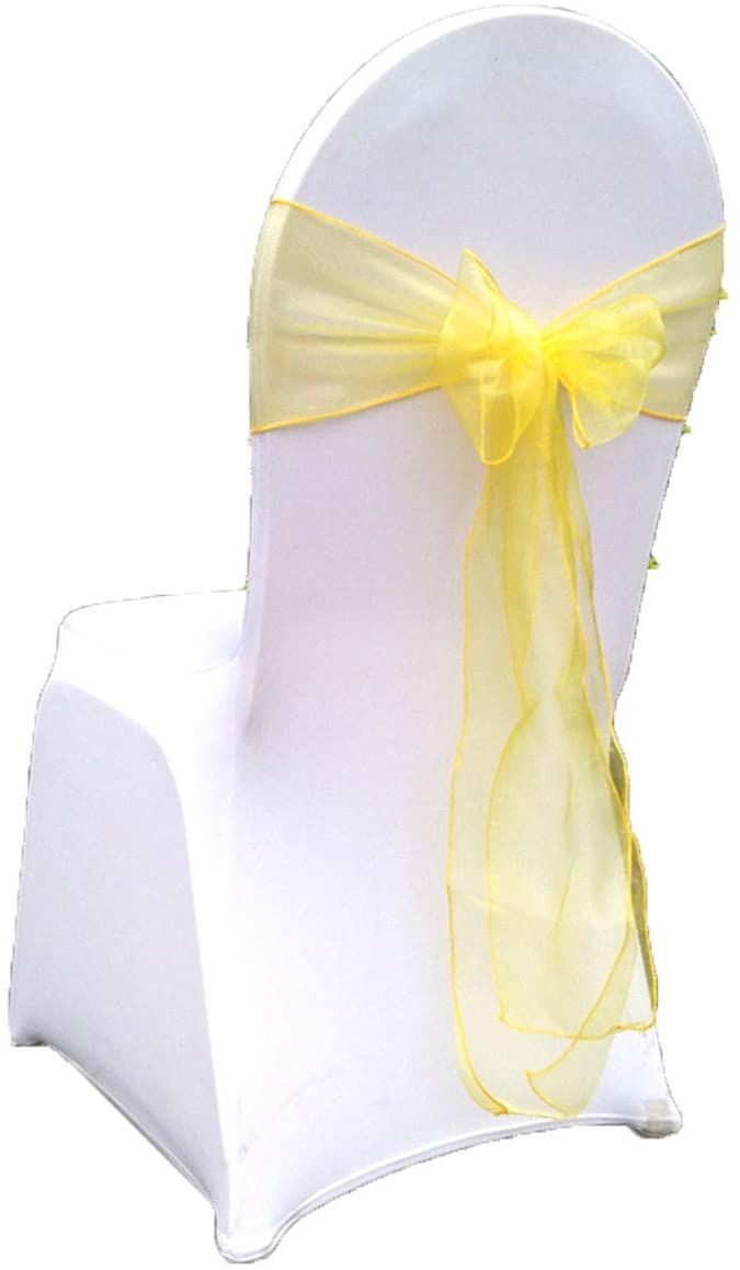 Special Bridal Spandex Chair Bands Chair Bow Ties for Party 25 Pieces 7