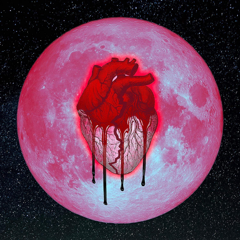 Heartbreak on a Full Moon Chris Brown Art Poster Print,Unframed 20x20 Inches
