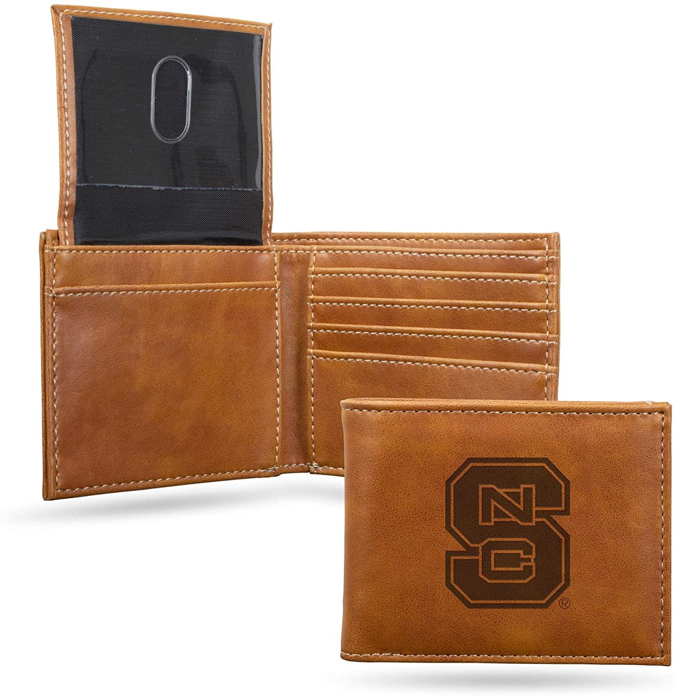NCAA Rico Industries Laser Engraved Billfold Wallet, North Carolina State Wolfpack