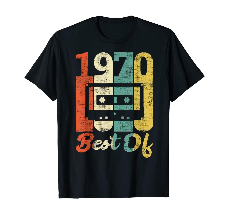 Retro 50th Birthday Cassette 1970 Gift 70s Best Of T-Shirt