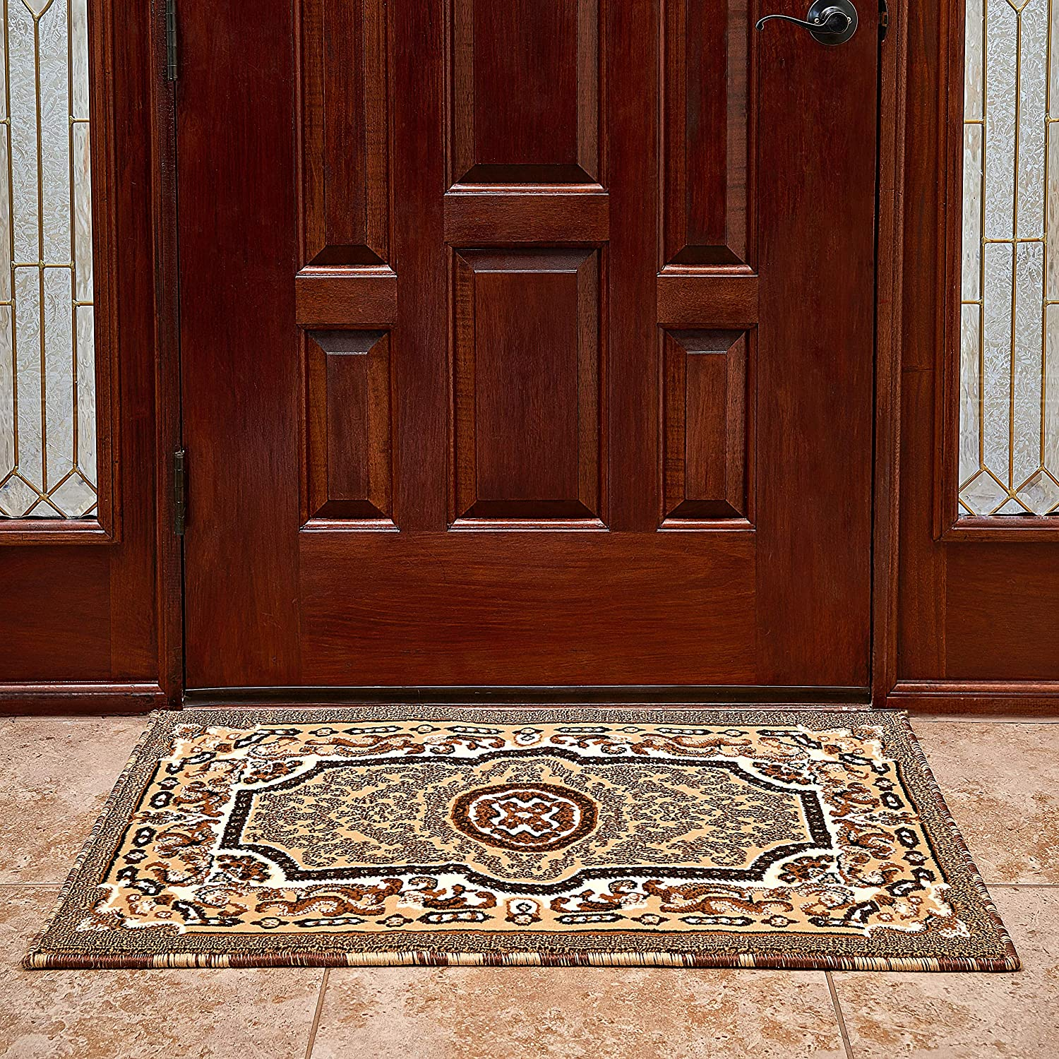 Cosy House Front Door Mat for Inside, Indoor Doormats for Entryway - Waterproof Low Profile Entrance Way Rug - Resist Stains, Soil, Fading, Freying - Natural Jute Backing | 24