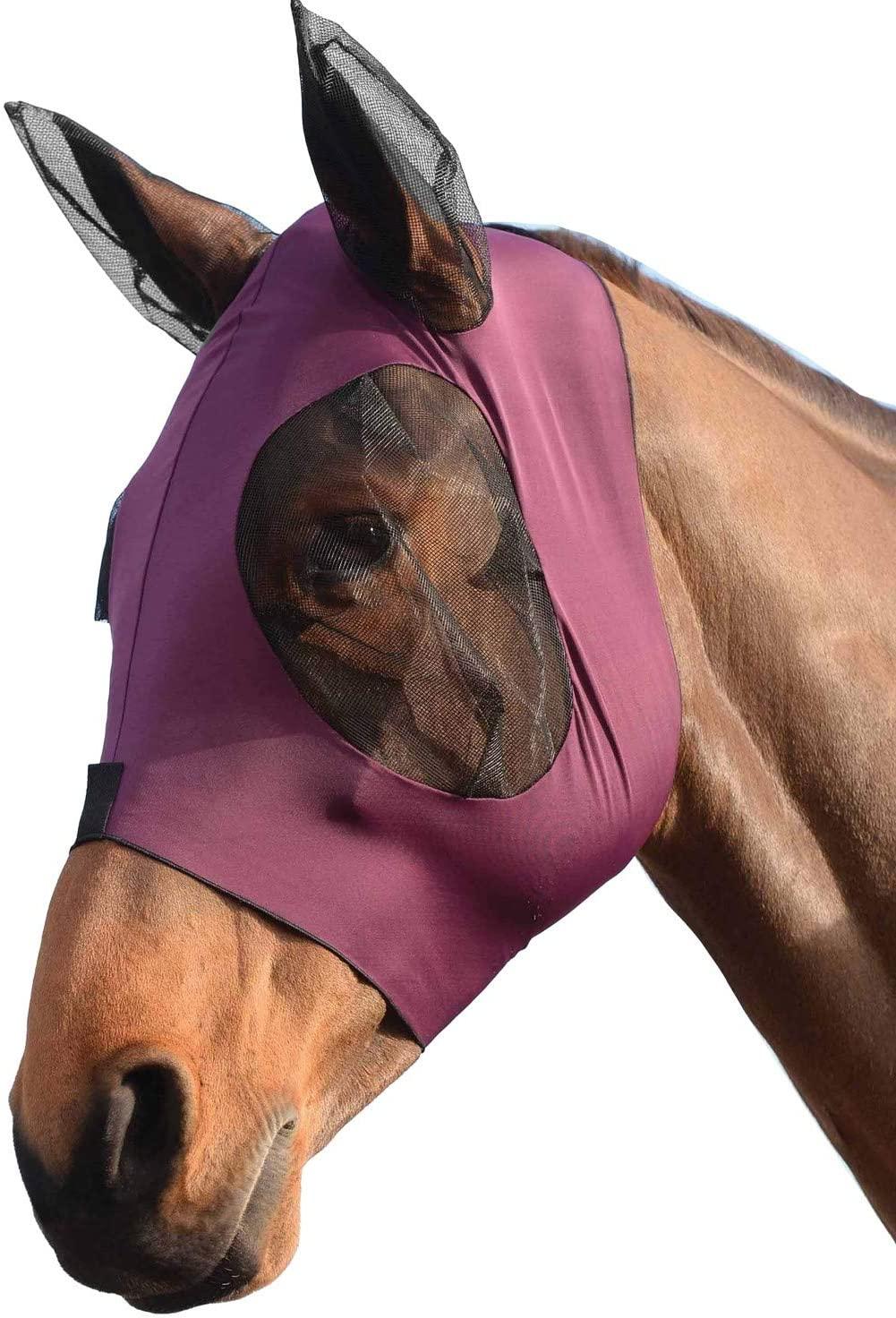 Weatherbeeta Stretch Bug Eye Saver with Ears Horse Fly Mask