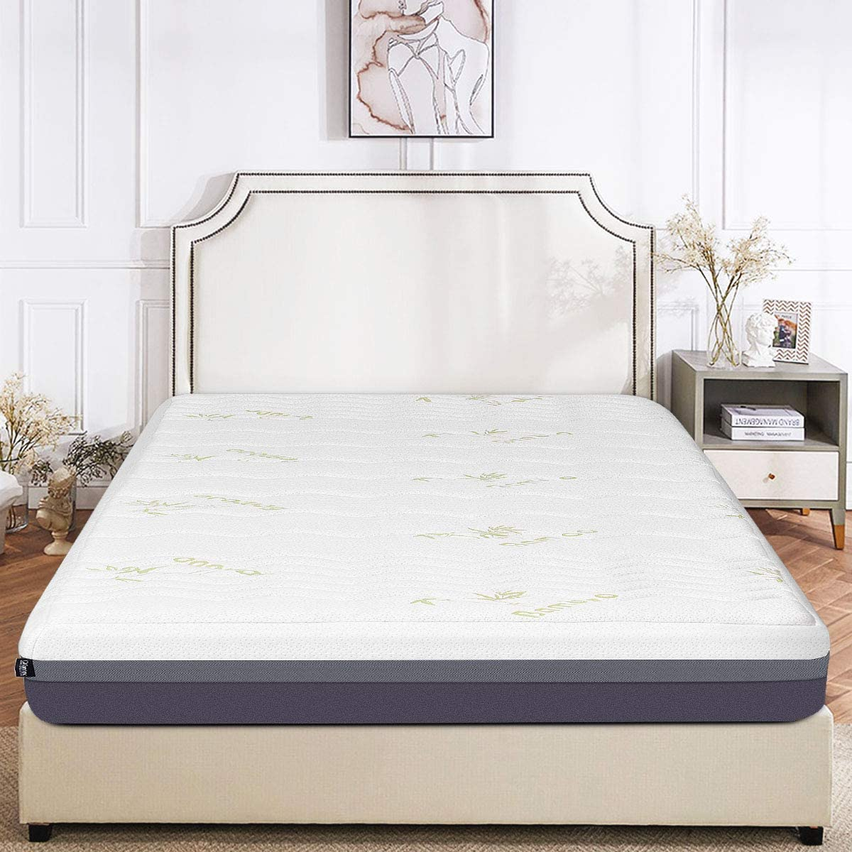 Giantex Mattress Memory Foam Bed Mattress Zipped Washable Bamboo Cover 10