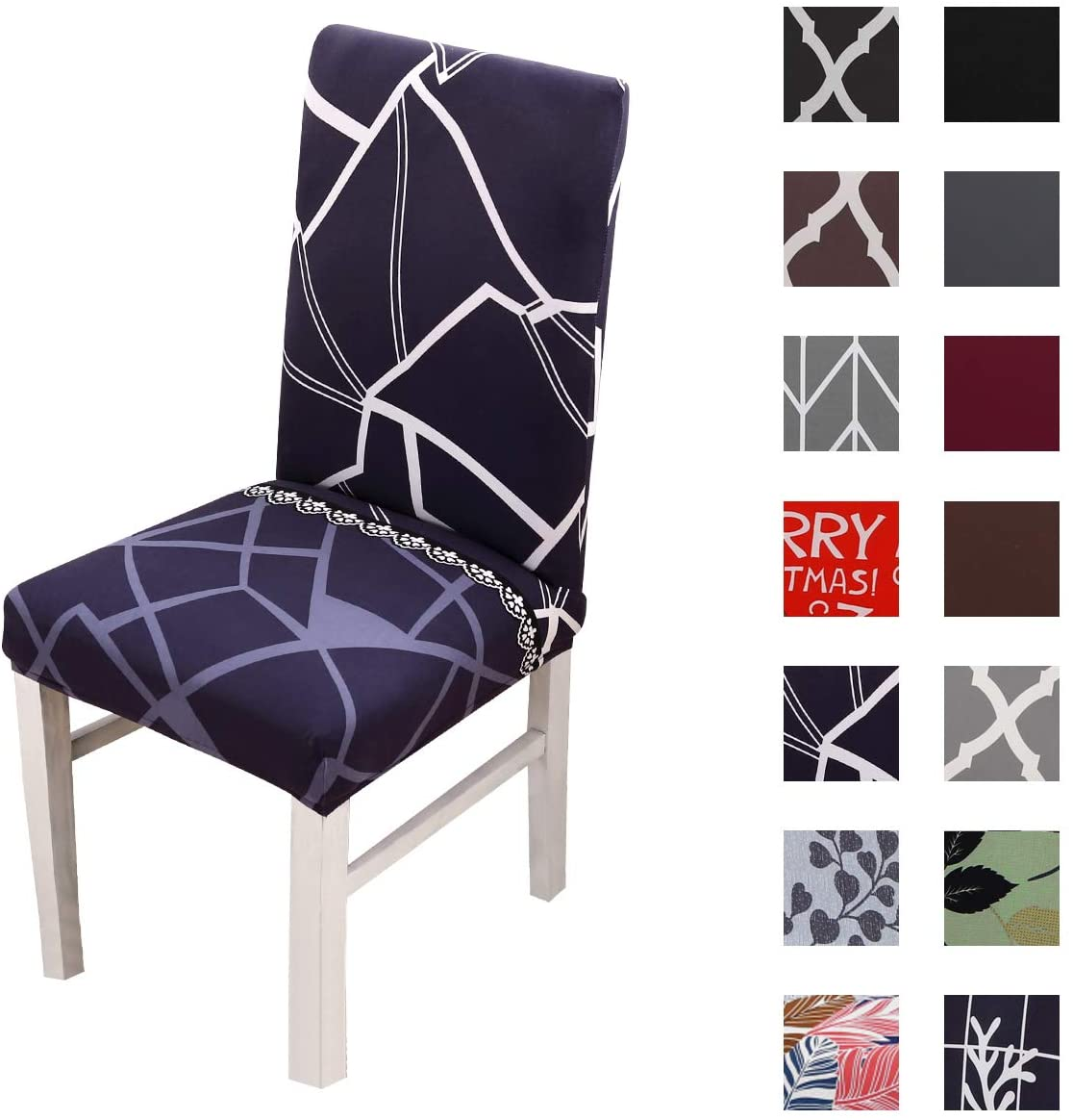 Kivors Universal Stretch Chair Slipcovers, Removable Chair Cover Washable Dining Chair Cover Chair Protective Covers for Husse Hotel Party Banquet