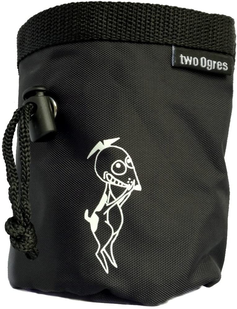 two Ogres Joe's Dog Treat Pouch with Belt, Waist Clip and Drawstring