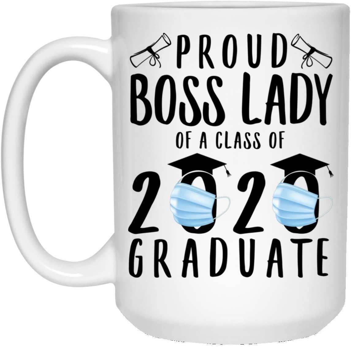 Funny Proud Boss Lady Class Of 2020 Quarantine White Coffee Mug 15oz