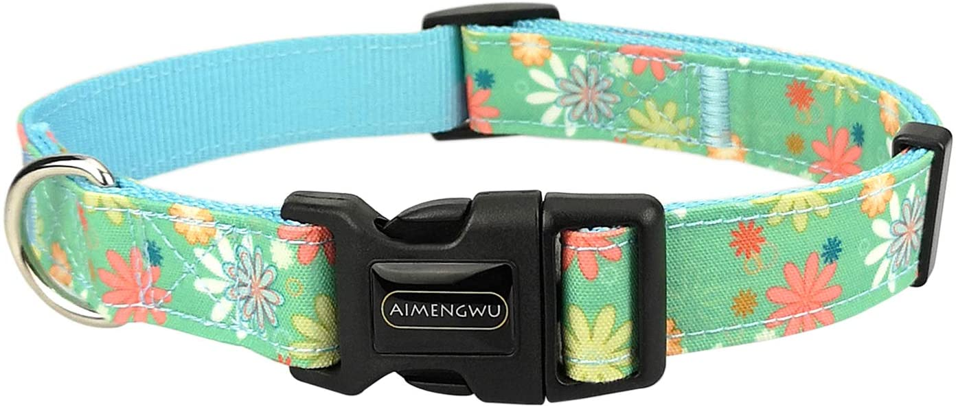 AIMENGWU Adjustable Chrysanthemum Different Sizes Dog Collar