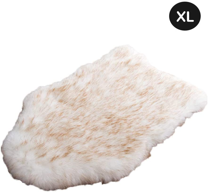 laamei Dog Bed Mat, Orthopedic Dog Bed, Deluxe Dog Crate Pad Ultra Soft Durable Self Warming Kennel Mattress for Dogs and Cats Premium Faux Sheepskin Rug Fur Throw Cover