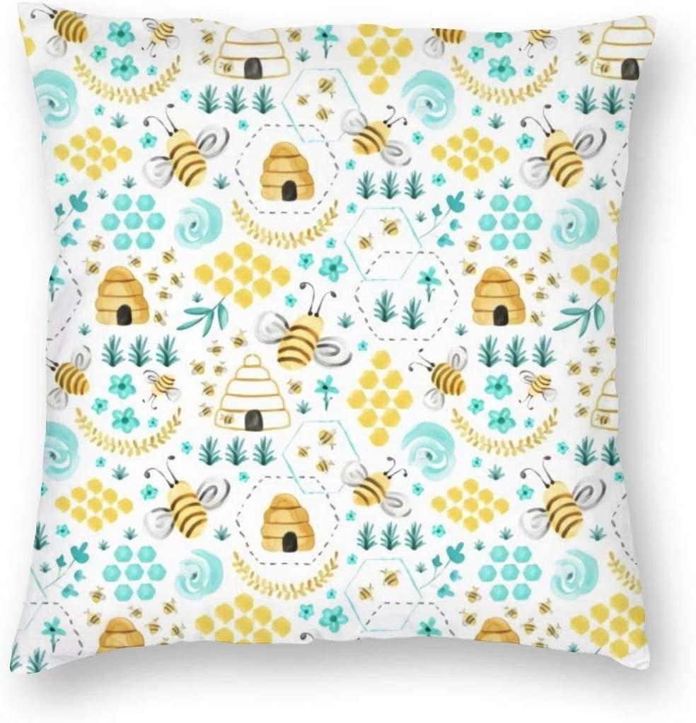 Munbroal Throw Pillow Cushion Cover Decorative Square Pillow Case 18