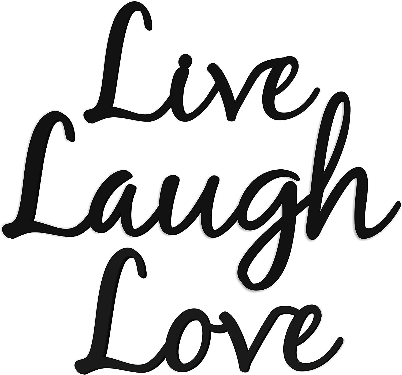 Live Laugh Love Word Art Wood Cutout