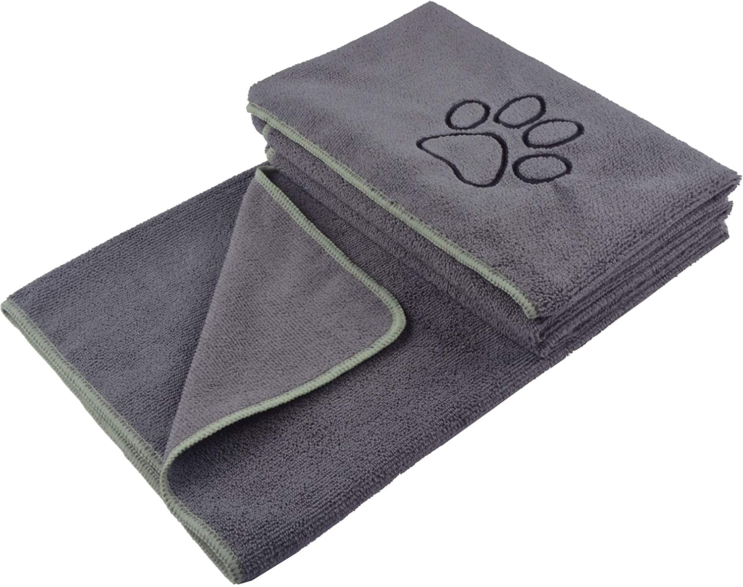 KinHwa Dog Towel Super Absorbent Pet Bath Towel Microfiber Dog Drying Towel for Small, Medium, Large Dogs and Cats