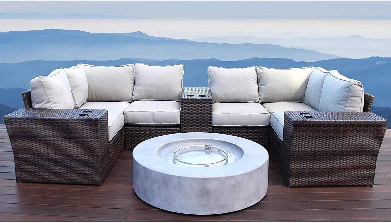 Living Source International Lucca 6 Cup Table Coversation Set [CM-4512] (10 Piece)