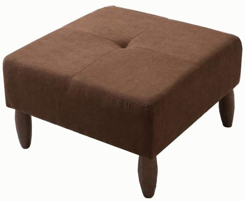 Nordic Modern Ottoman Footstool Linen Fabric Square Stool Shoe Bench Coffee Table Stool Sofa Stool HENGXIAO (Color : #10)
